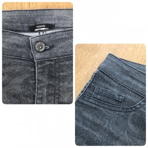 Tezenis Stretch-Jeans/Jeggins grau Gr. S tolles Muster