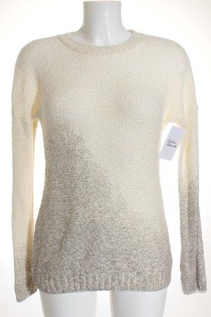 Tezenis Pull tricoté blanc cassé-gris style décontracté