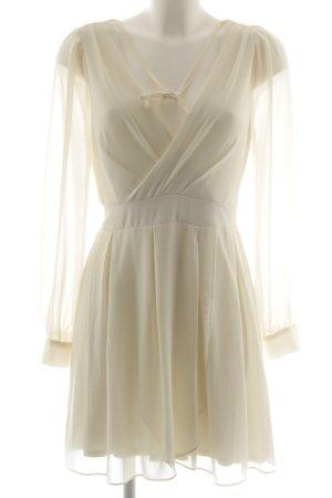 TFNC A-Linien Kleid wollweiß Elegant