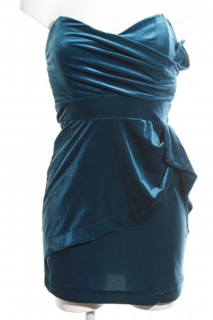 TFNC Abito a fascia blu neon-verde elegante