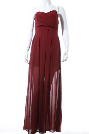 TFNC Vestido bustier púrpura elegante