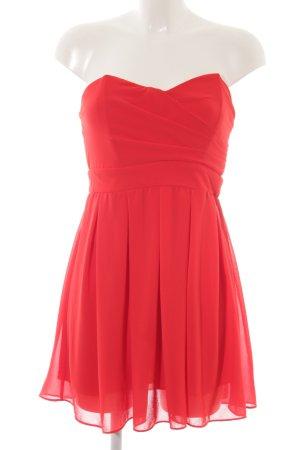 TFNC Vestido bustier rojo estilo extravagante
