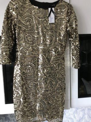 Tfnc Kleid aus goldenen Pailletten