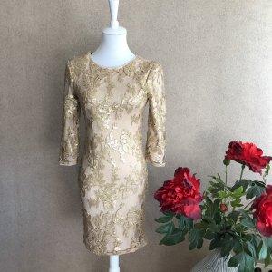 TFNC Kleid in Gold mit Pailletten
