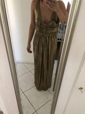 TFNC Maxi-Kleid V-Ausschnitt Gold Größe 36