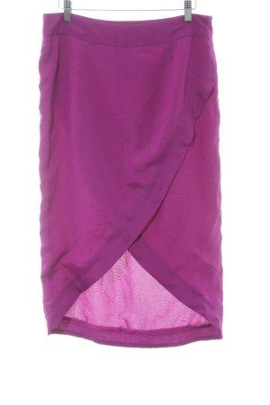 TFNC Falda midi lila look casual