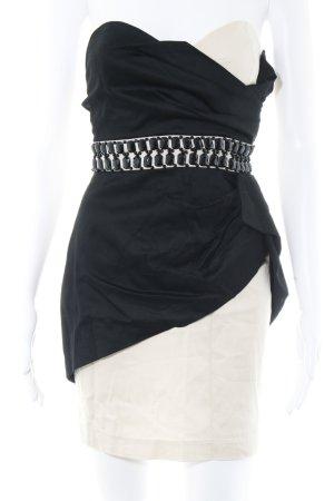 TFNC Minikleid schwarz-hellbeige Elegant