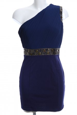 TFNC One-Shoulder-Kleid blau-goldfarben Elegant
