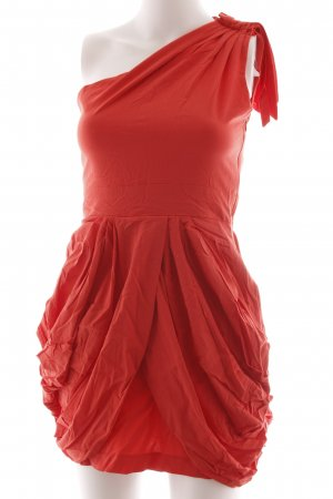 TFNC One Shoulder Dress red extravagant style