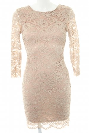 TFNC Spitzenkleid nude Blumenmuster Party-Look