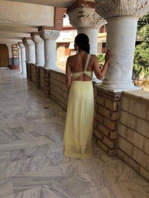 TFNC Verziertes Maxi-Kleid Gelb Größe 38