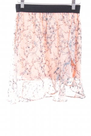 TFNC Falda con volantes estampado floral estilo romántico