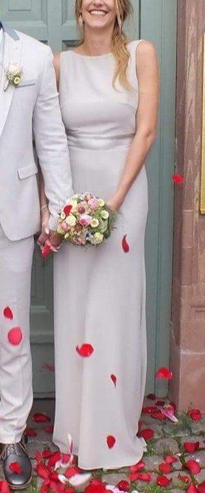 TFNC WEDDING Maxikleid mit Schleppe & Satinzierschleife hinten > altrosa
