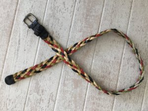 Tommy Hilfiger Braided Belt multicolored leather