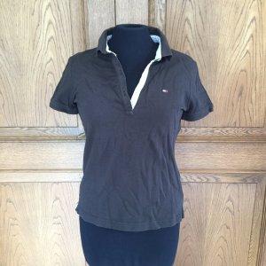 TH Polo-Shirt schwarz mit tailliertem Schnitt aus den USA