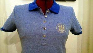 TH Tommy Hilfiger Damen Poloshirt M 38 Neu Shirt T-Shirt blau Sommer