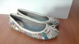 TH Tommy Hilfiger Denim Ballerina 37 flower power Hippie Ballerinas