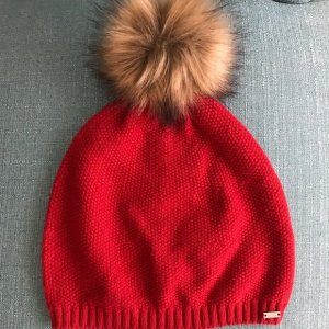 Tommy Hilfiger Knitted Hat red-brick red