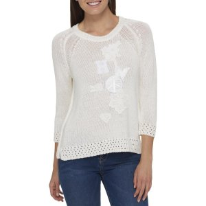 Tommy Hilfiger Crochet Sweater natural white
