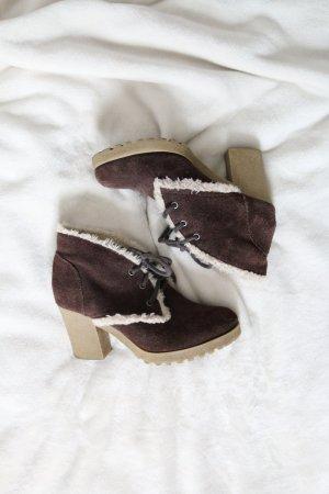 TH Winter-Stiefeletten Ankle Boots Wildleder