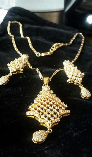 Thailand Jewelry's Sets  Yellow Gold Color Cubic Zircon