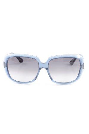 Thakoon eckige Sonnenbrille blau extravaganter Stil