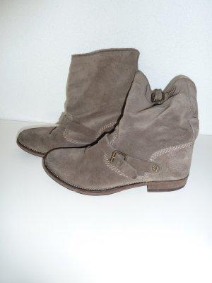 THD Hilfiger Boots Stiefeletten Wildleder grau Gr. 38
