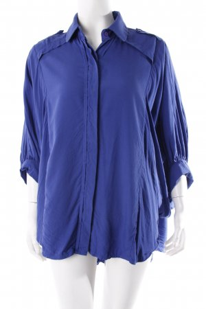 The Ahn Oversized Bluse blau