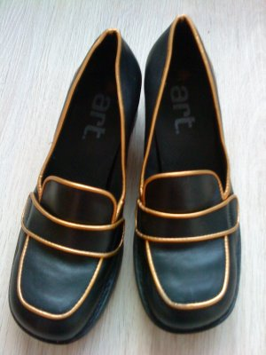 The Art Company Tacones de plataforma negro-color oro Cuero