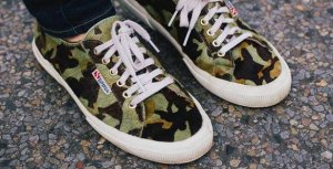 The Blonde Salad X Superga Sneaker - Military / Camouflage