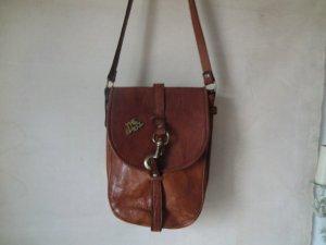 The Bridge True Vintage Tasche Bag Leder 70er Jahre Handtasche Umhängetasche Ledertasche