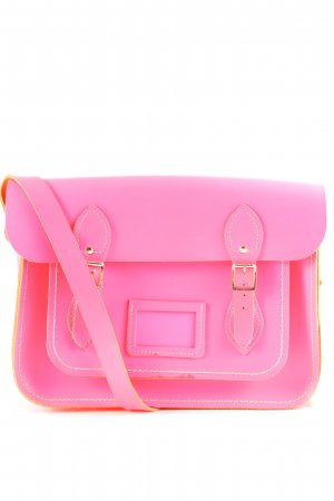 The Cambridge Satchel Company Bolso estilo universitario rosa neón look vintage