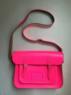 The Cambridge Satchel Company – Tasche aus Leder in neonpink