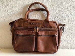 Briefcase cognac-coloured