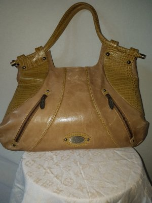 Carry Bag sand brown leather