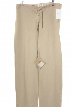 The earth collection Woolen Trousers beige casual look