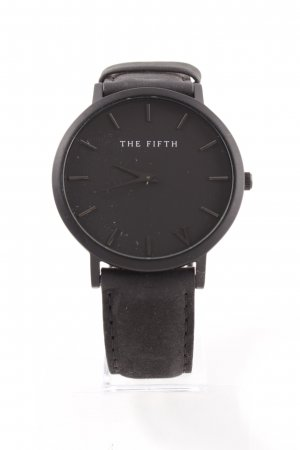 The Fifth Uhr mit Lederarmband schwarz Casual-Look
