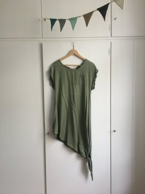 The Hackbarth's   Kleid   Mini   Khaki   Oliv   Materialmix mit 25 % Seide   Asymmetrisch   Gr. 36