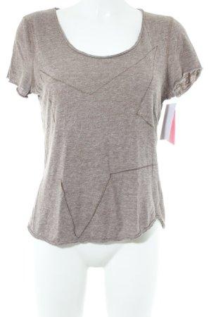the hip tee T-Shirt hellbraun meliert Casual-Look