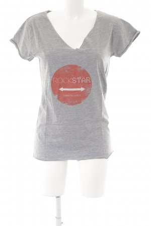 the hip tee T-Shirt hellgrau-hellrot Casual-Look