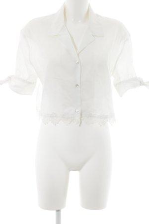 The Kooples Blouse-chemisier blanc style romantique