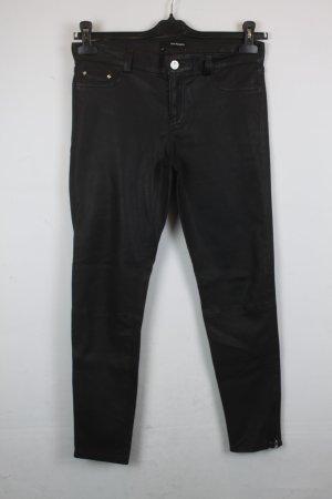 The Kooples Hose Lederhose Skinny Leg Gr. 29 schwarz