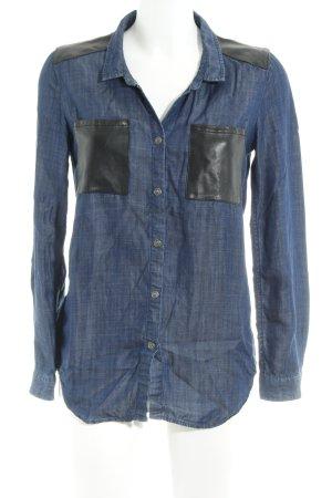 The Kooples Denim Blouse dark blue-black casual look
