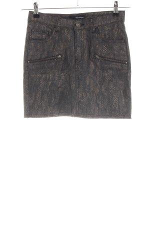 The Kooples Jupe en jeans bronze-gris clair motif animal style décontracté