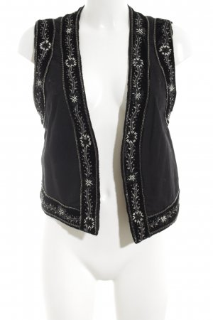 The Kooples Jeansweste schwarz-weiß Casual-Look