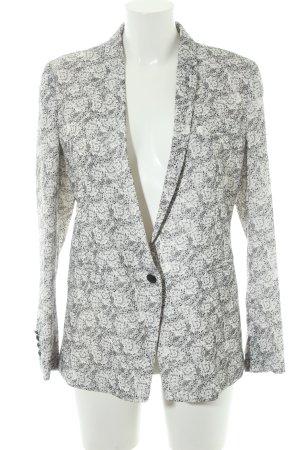 The Kooples Jersey Blazer blanco-gris claro estampado floral elegante