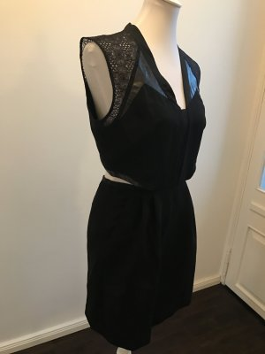 The Kooples Robe découpée noir