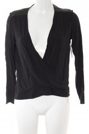 The Kooples Langarm-Bluse schwarz Business-Look
