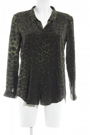 The Kooples Langarm-Bluse schwarz-grün Animalmuster Casual-Look