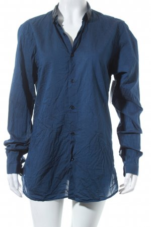 The Kooples Langarmhemd schwarz-dunkelblau Casual-Look